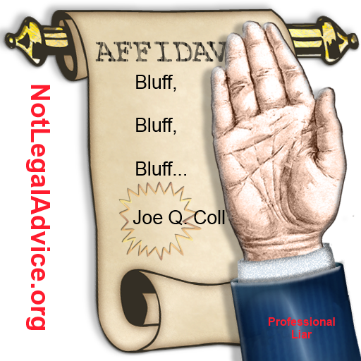 affidavit debt collector robo sign